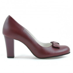 Women stylish, elegant shoes 1245 grena