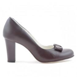 Women stylish, elegant shoes 1245 bordo