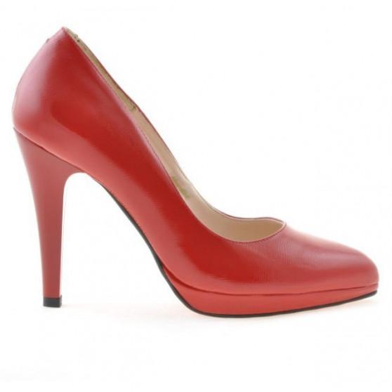 Pantofi eleganti dama 1233 lac rosu satinat