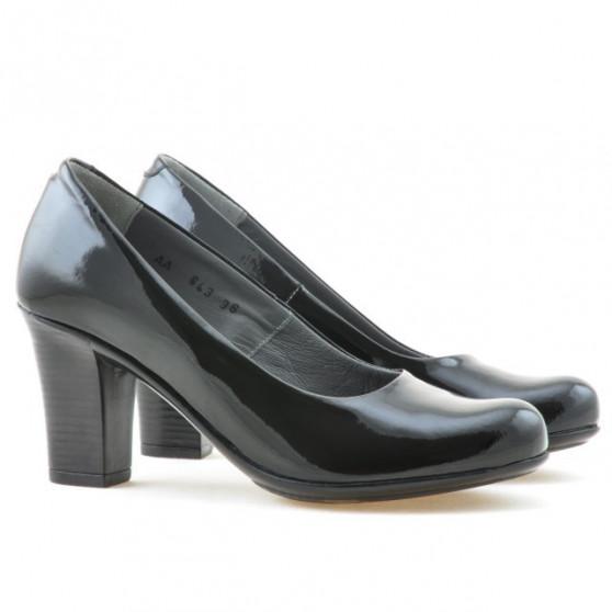Women stylish, elegant, casual shoes 643 patent black
