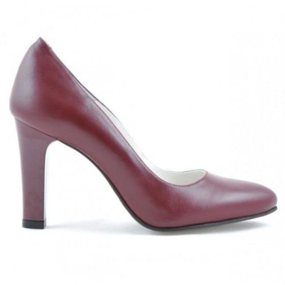 Women stylish, elegant shoes 1243 grena