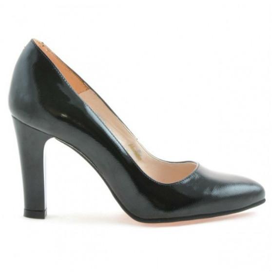 Women stylish, elegant shoes 1243 patent black satinat