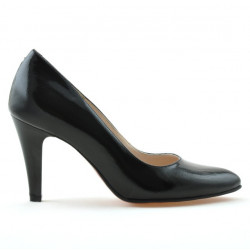 Women stylish, elegant shoes 1234 patent black satinat