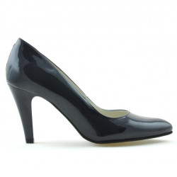 Women stylish, elegant shoes 1234 patent indigo