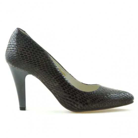 Pantofi eleganti dama 1234 croco maro