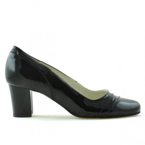 Women stylish, elegant shoes 1217 patent black
