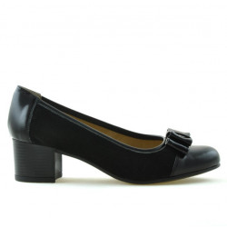 Women stylish, elegant, casual shoes 636 patent black combined