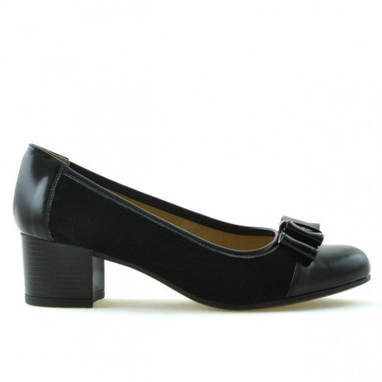 Women stylish, elegant, casual shoes 636 patent black combined