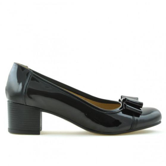Women stylish, elegant, casual shoes 636 patent black