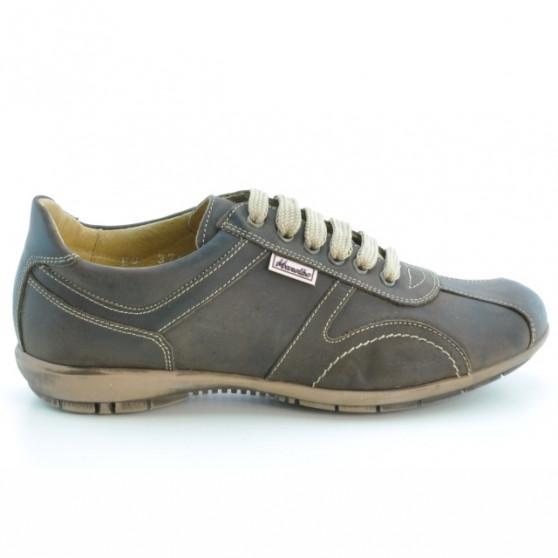 Pantofi sport adolescenti 371 tuxon cafe