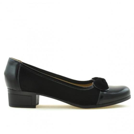 Pantofi casual / eleganti dama 650 lac negru combinat