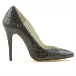 Pantofi eleganti dama 1241 croco maro