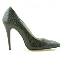 Pantofi eleganti dama 1241 croco verde