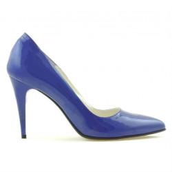 Women stylish, elegant shoes 1246 patent blue