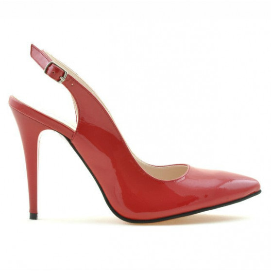 Women sandals 1235 patent red