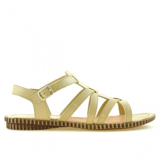 Women sandals 595 beige 1