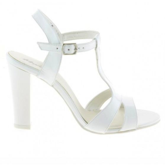 Women sandals 1239 patent white